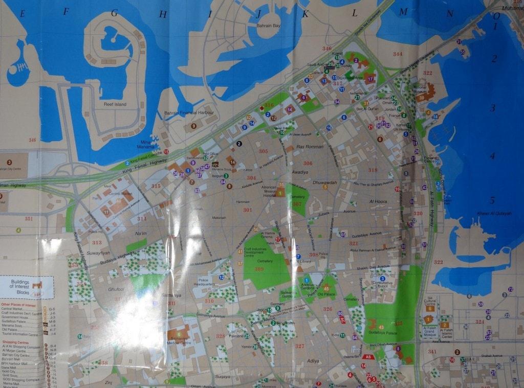 Bahrain - Tourist Map