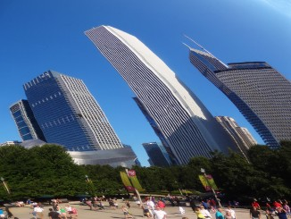 Windy skyscrapers in Chicago