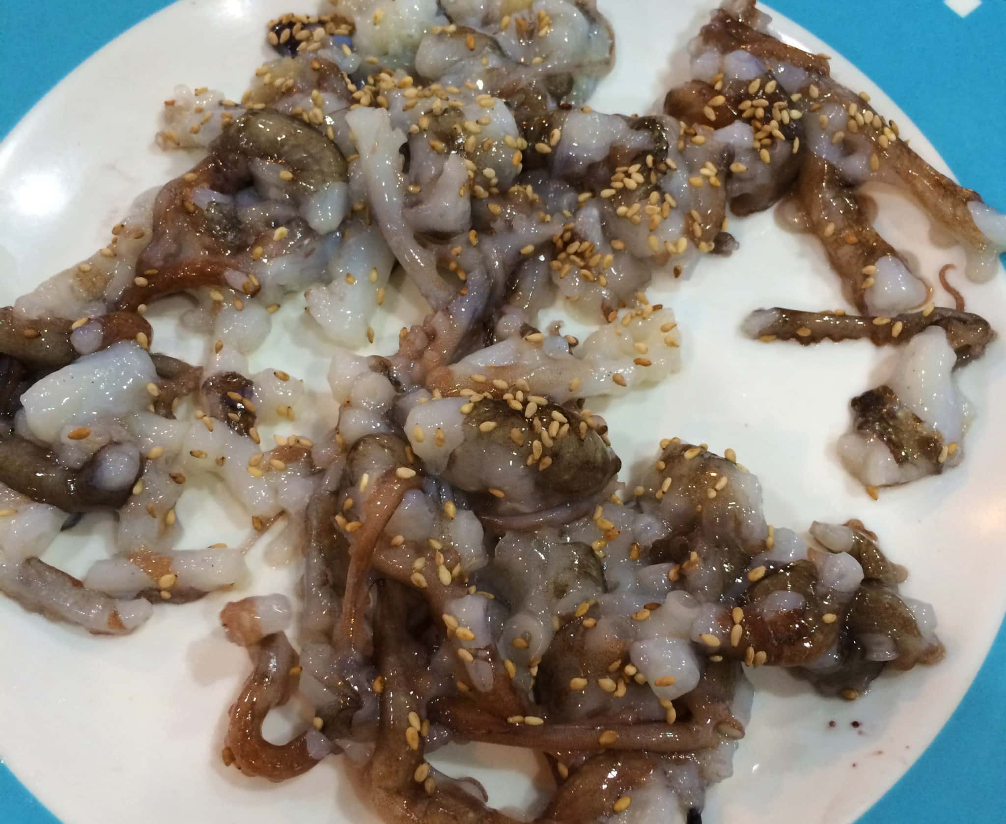 Eating Sannakji in Seoul, a live octopus