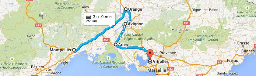 south france road trip itinerary leg 3 montpellier orange avignon arles marseille. Black Bedroom Furniture Sets. Home Design Ideas