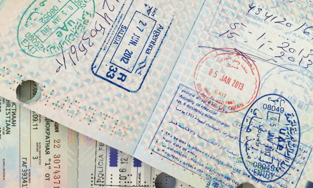 United Arab Emirates - Entry & Exit passport stamp issues