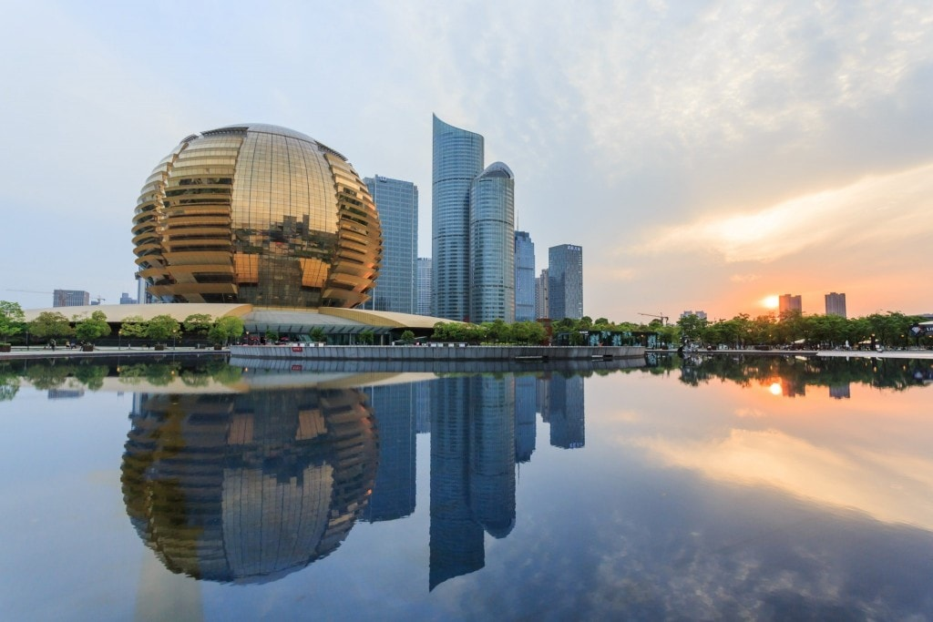 China Intercontinental Hangzhou A Luxury Golden Sphere