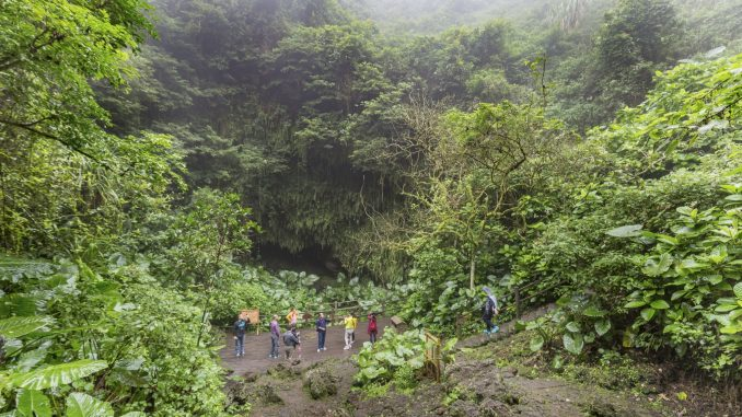 CHINA - A day trip from Haikou: Volcano Park & lava villages and caves