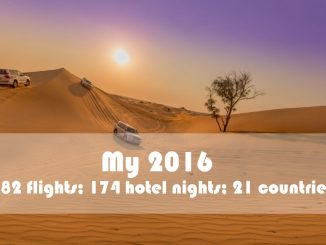 My 2016 was a year full of bleisure travel: 82 flights; 174 hotel nights; 21 countries