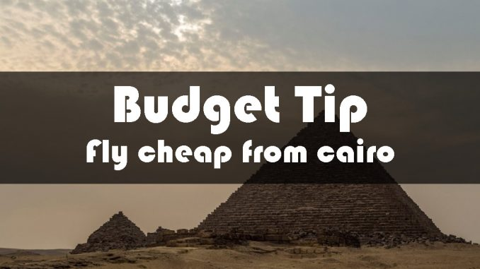 BUDGET TIP - Visit the Pyramids in Cairo & fly for 350 euro business class from Egypt to Bangkok