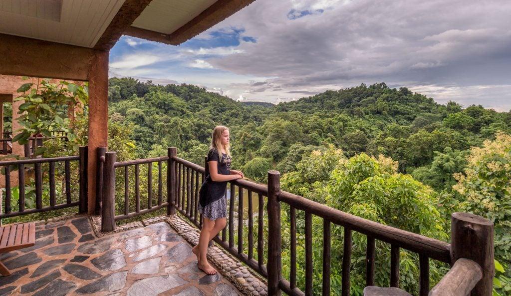 Balcony View - THAILAND - Katiliya Mountain Resort & Spa offers luxury north of Chiang Rai