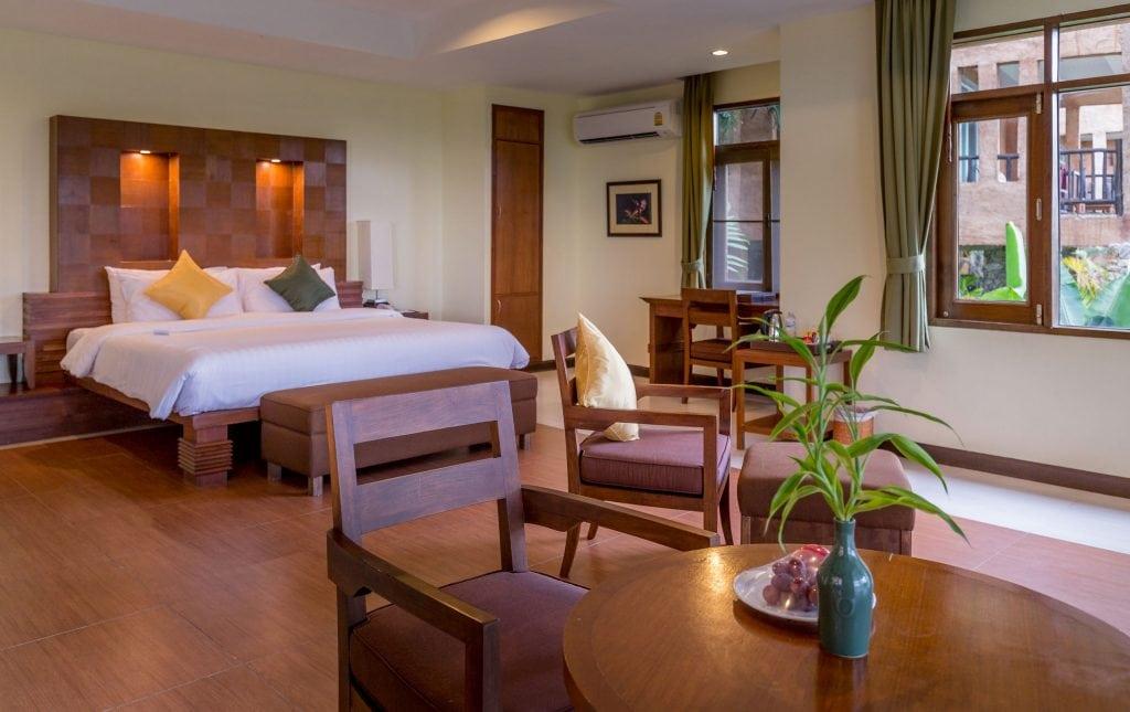 King Bedroom - THAILAND - Katiliya Mountain Resort & Spa offers luxury north of Chiang Rai