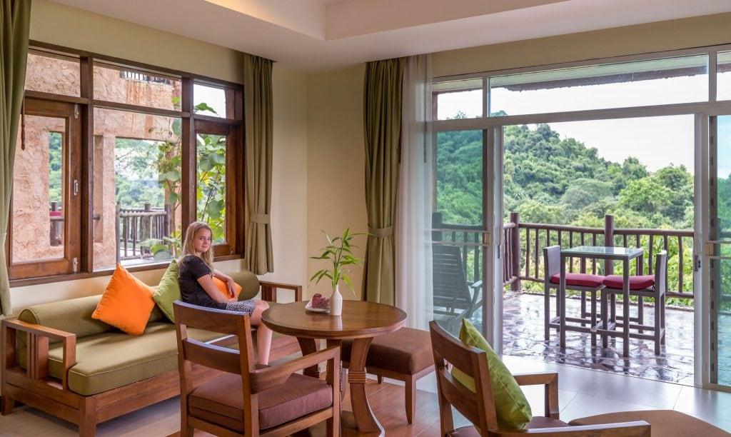 Relaxing in Villa - THAILAND - Katiliya Mountain Resort & Spa offers luxury north of Chiang Rai