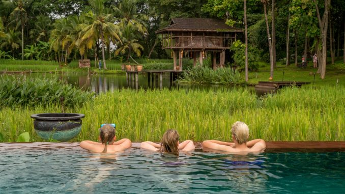 Enjoying the pool view - THAILAND - Four Seasons Chiang Mai: A luxury treasure in the Mae Rim Valley