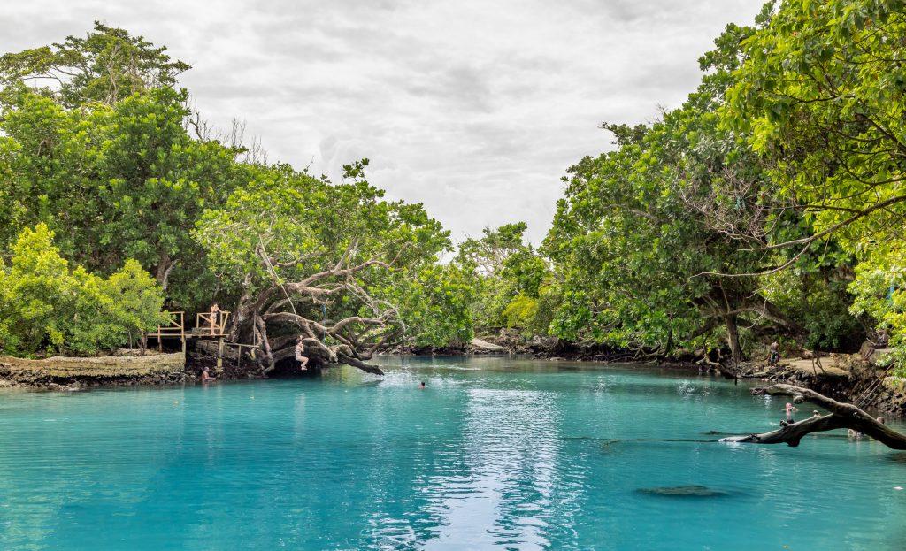 Blue Lagoon Swimming Hole - VANUATU - 7 days in Vanuatu itinerary: travel guide, tips & inspiration