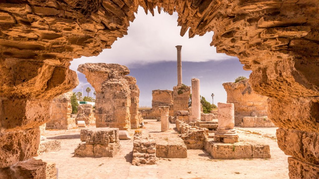 Carthage Antonine Baths - TUNISIA - A two week Tunisia itinerary: a road trip to all the highlights