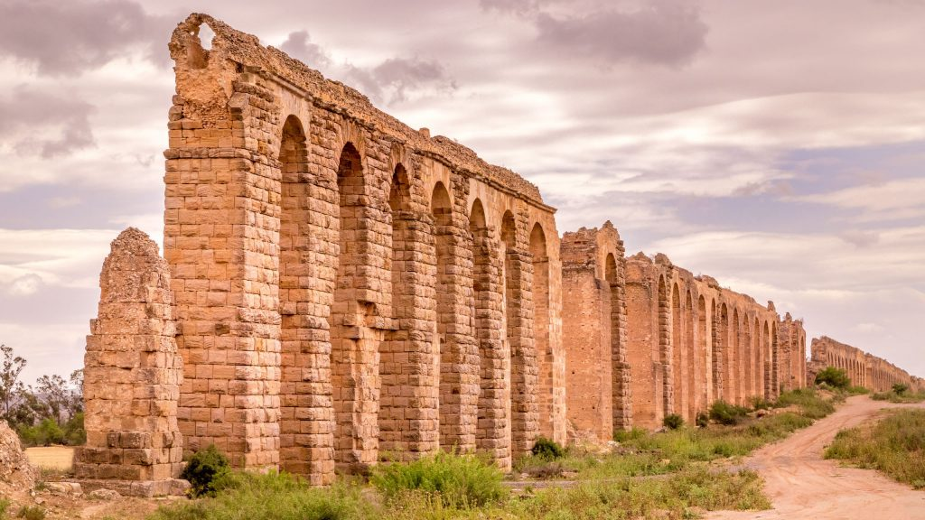 Roman Aquaduct near Tunis - TUNISIA - A two week Tunisia itinerary: a road trip to all the highlights
