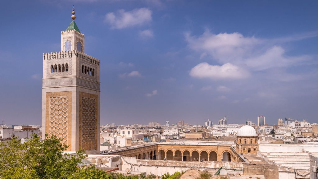 Tunis Medina Grand Mosque - TUNISIA - A two week Tunisia itinerary: a road trip to all the highlights