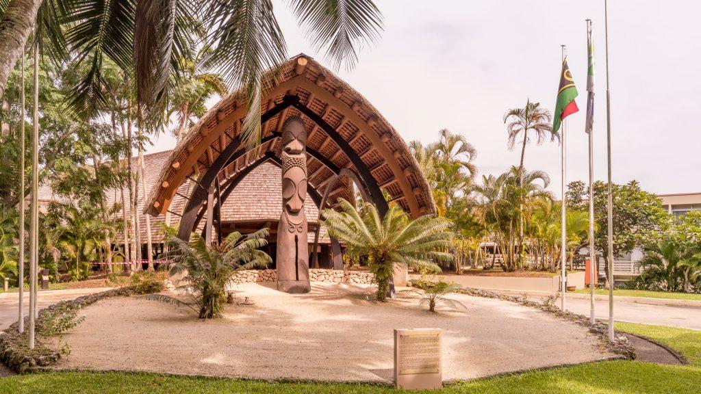 Hotel entrance - VANUATU - Holiday Inn Resort Port Vila; a luxury hotel with private lagoon beach