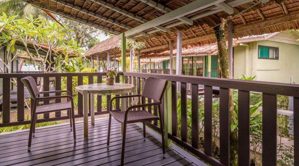 Bungalow terrace - SOLOMON ISLANDS - World class diving with Dive Munda & an Agnes Gateway Hotel stay
