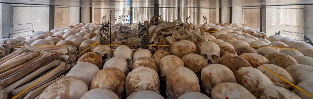 Killing Fields Skulls - VIETNAM & CAMBODIA - Ho Chi Minh City to Siem Reap itinerary with Mekong Cruise