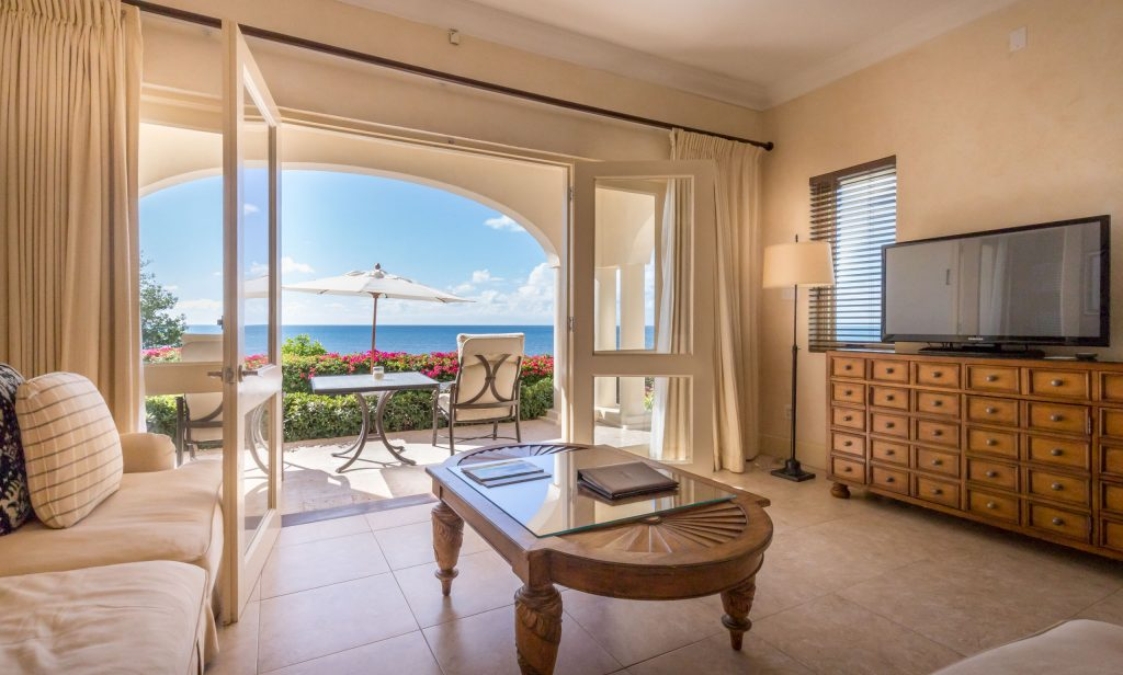 Living room - ANTIGUA - Blue Waters Hotel review; a must stay luxury beach resort