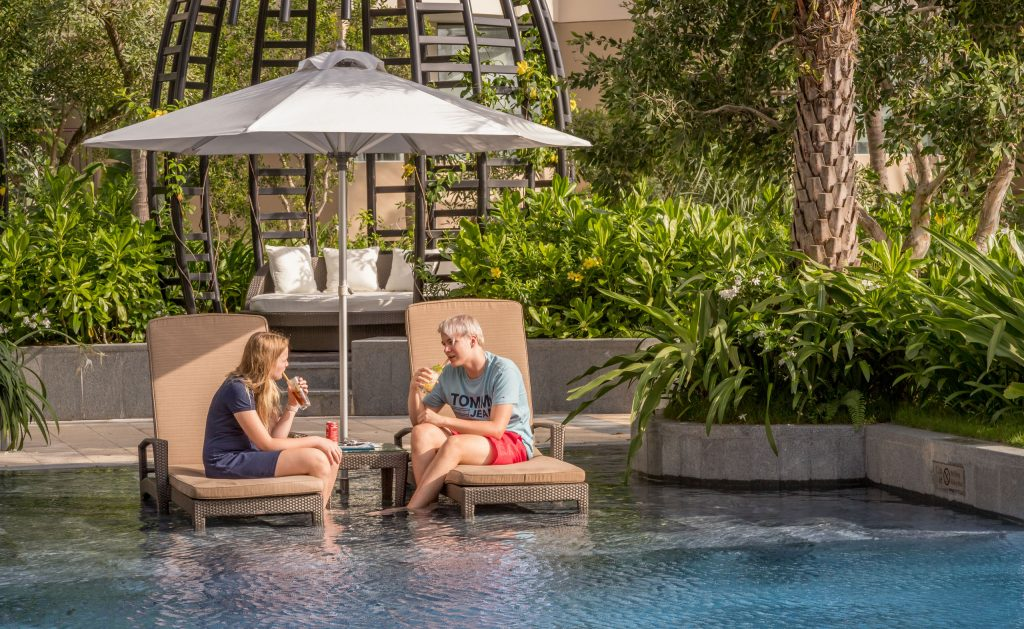 Lounging at the pool - VIETNAM - Luxury stay: Intercontinental Phu Quoc Long Beach Resort review