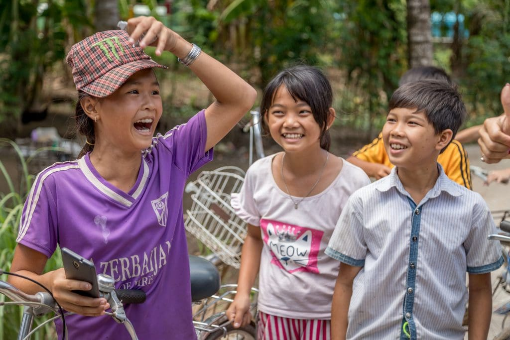 Mekong Delta Local Kids - VIETNAM & CAMBODIA - Ho Chi Minh City to Siem Reap itinerary with Mekong Cruise