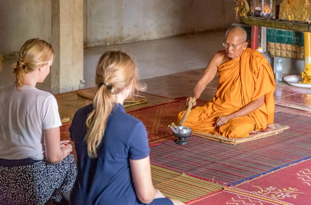 Monk Blessing - VIETNAM & CAMBODIA - Ho Chi Minh City to Siem Reap itinerary with Mekong Cruise