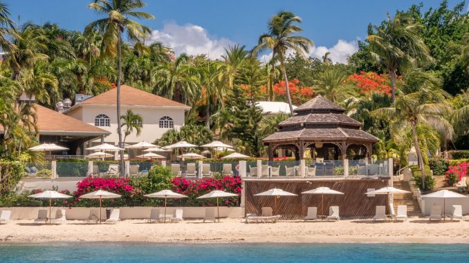 Resort view from sea - ANTIGUA - Blue Waters Hotel review; a must stay luxury beach resort