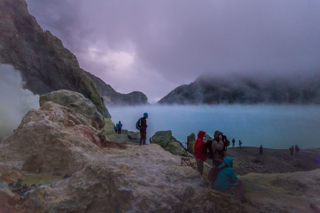 Indonesia Hiking The Active Amp Toxic Ijen Volcano With