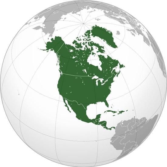 North America - Map
