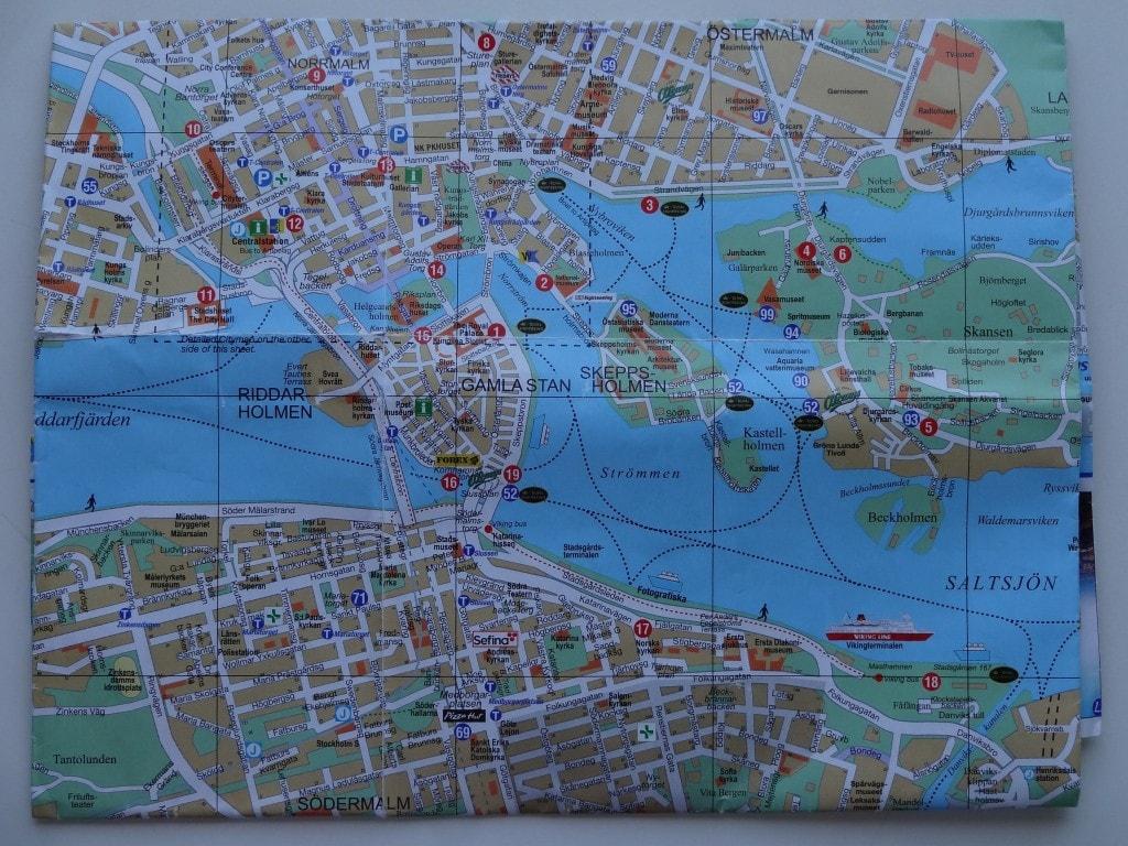 Sweden - Stockholm - Map