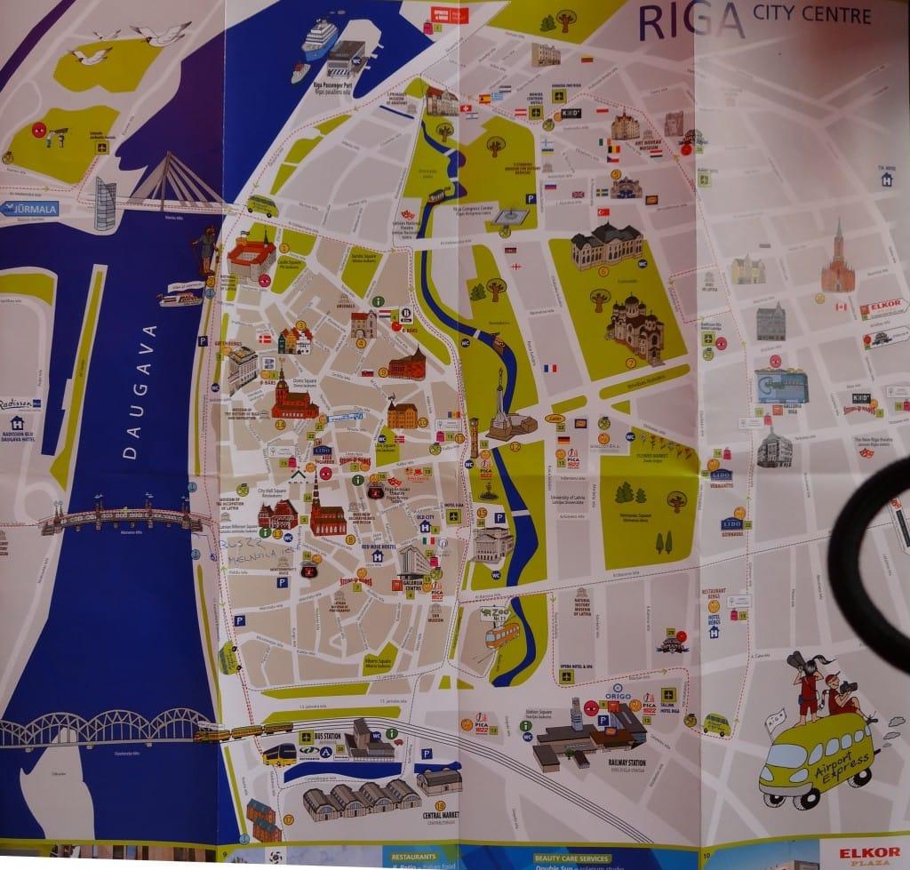 Latvia - Riga - Tourist City Map