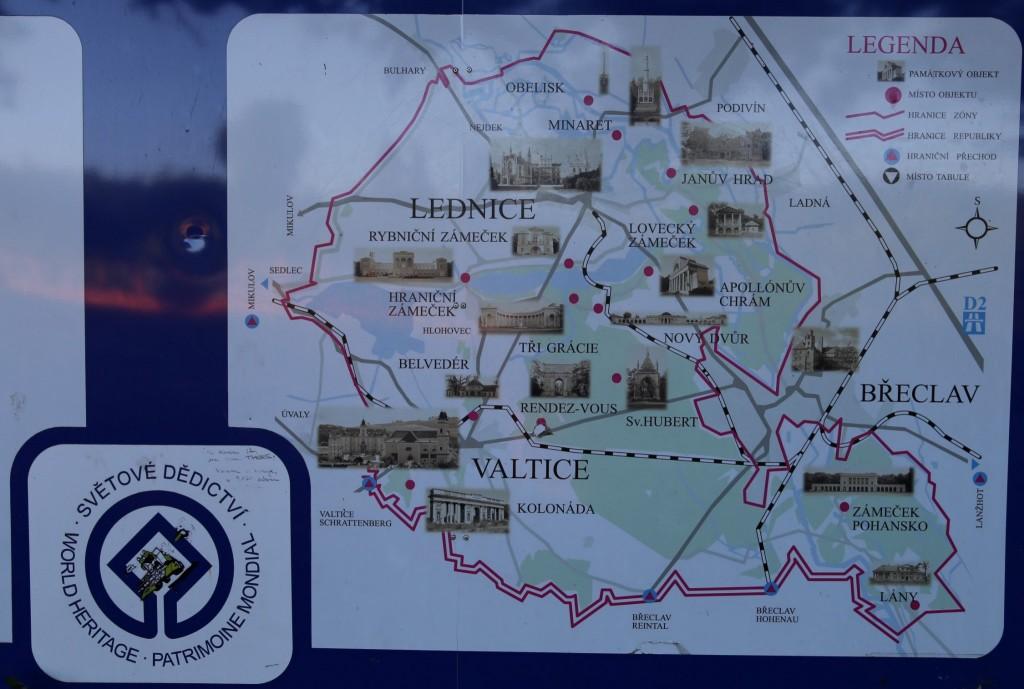 Lednice-Valtice Cultural Landscape Map