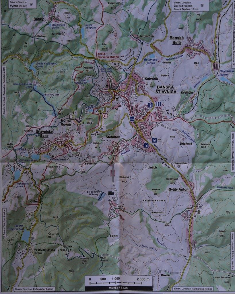 Tourist Map Banska Stiavnica