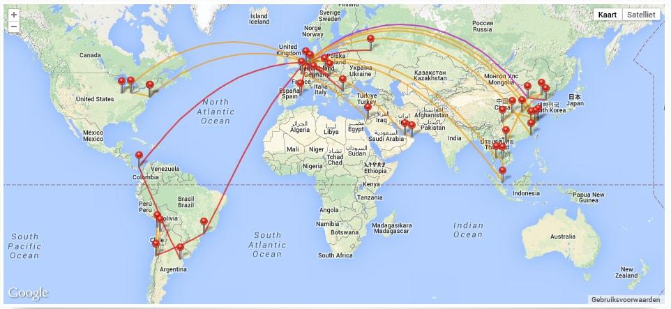 Flight Map 2014