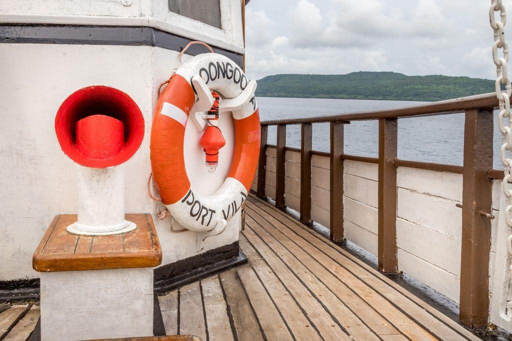Coongoola Deck - VANUATU - Must do: Coongoola day cruise from Port Vila