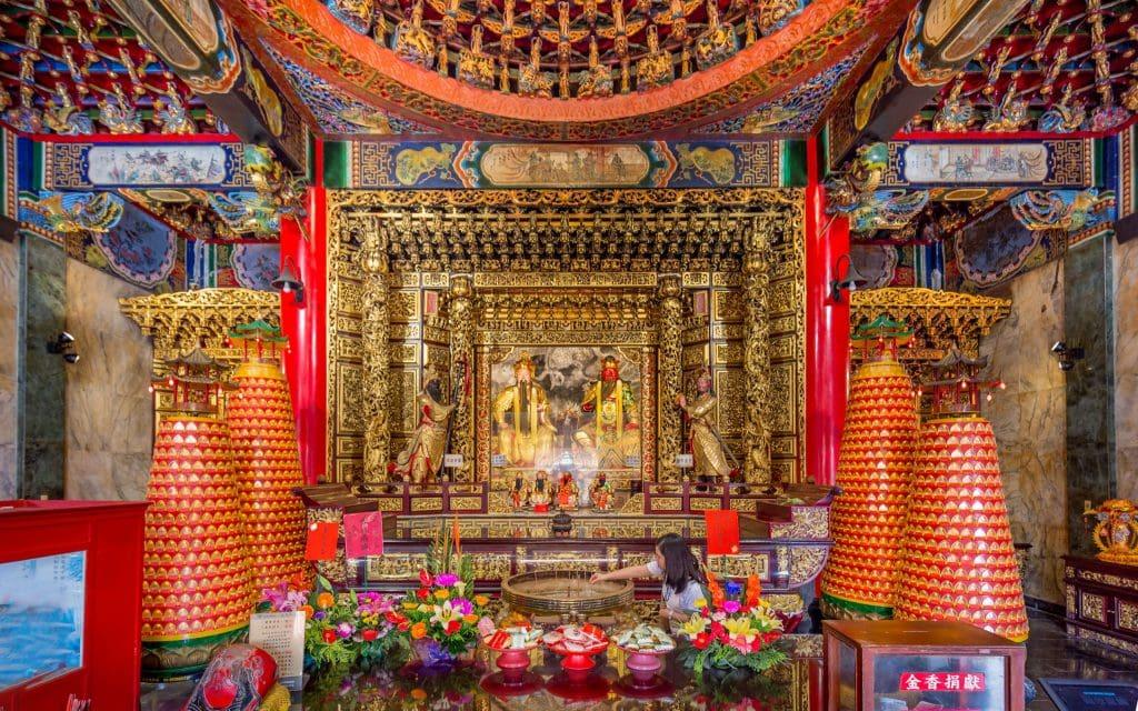 Wenwu Temple interior - TAIWAN - Day trip to Sun Moon Lake from Taipei or Taichung