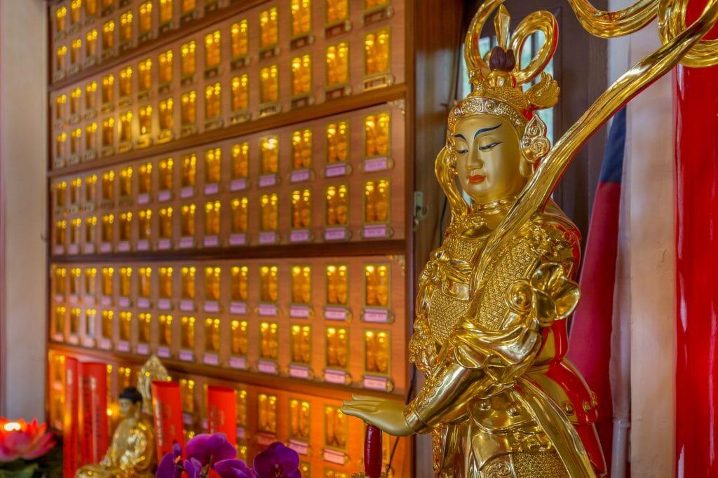 Xuan Zang Temple interior - TAIWAN - Day trip to Sun Moon Lake from Taipei or Taichung