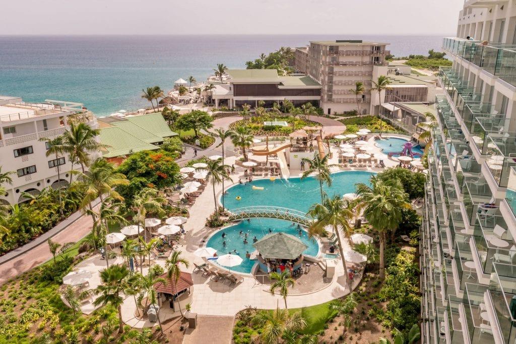 Birdseye view pool - ST. MAARTEN - Sonesta Ocean Point Resort review: Best all-inclusive on St. Maarten