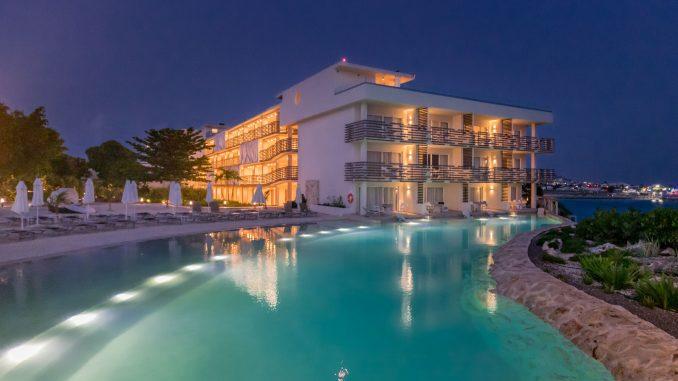 Pool at night - ST. MAARTEN - Sonesta Ocean Point Resort review: Best all-inclusive on St. Maarten