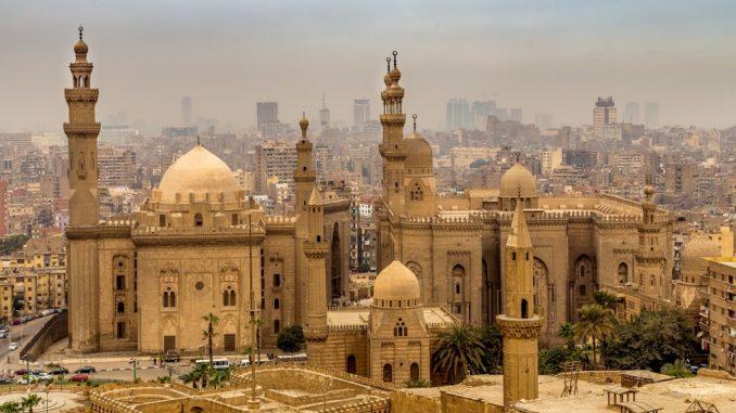 Egypt Islamic Cairo The Historical Muizz Street And Al